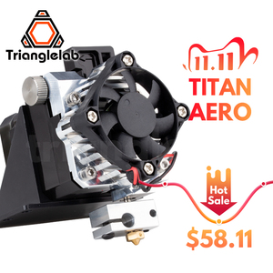 Image 1 - Trianglelab titan extruder full kit Titan Aero V6 hotend extruder full kit reprap mk8 i3 Compatible TEVO ANET I3 3d printer