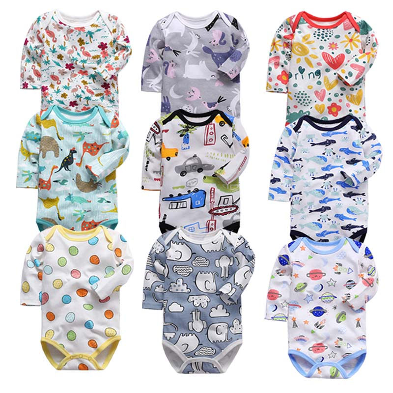 Babies Boys Clothing   Romper   Newborn Infant Girls Body Long Sleeve 3-24 Months Baby Clothes
