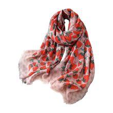 2020 всесезонный новый большой квадратный шарф шелковый клубничный