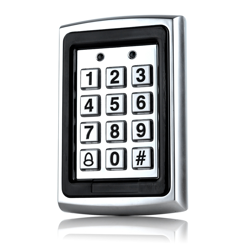 Waterproof Metal Rfid Access Control Keypad Password 1000 Users Card Reader Keypad Key Fobs Password Access Lock Door Access Con