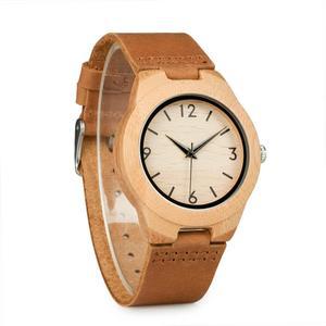 Image 5 - בובו ציפור בעבודת יד במבוק גבירותיי עץ שעון עם עור אמיתי часы женские זוג שעון האהבה יום הווה парные часы