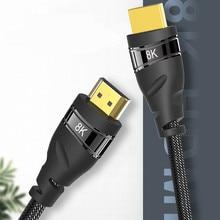 HDMI 2.1สายทองแดง8K @ 60 HZ 4K @ 120HZ UHD HDR 48GbpsสายHDMI converter1m 2M 3MสำหรับPS4 HDTVโปรเจคเตอร์ความเร็วสูง8K HDMI