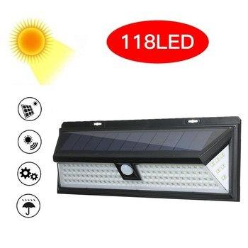 118 LEDs Solar Wall Light Motion Sensor Outdoor Garden Security Floodlight Bright Garden Garden Lawn Lamp IP65 Waterproof 5