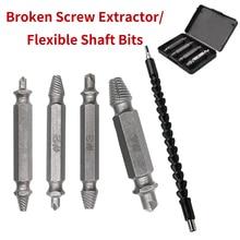 Черные гибкие биты вала электроники дрель удлинительная отвертка держатель бит и 1#, 2#, 3#, 4# S2 сломанный винт экстрактор