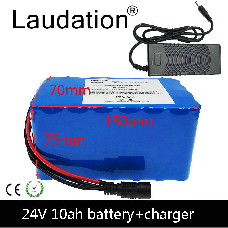 Laudation 24V 10ah batterie 18650 batterie pack für elektrische fahrrad 7S2P 21700 batterie pack für 250W 350W E fahrrad mit 15A BMS-in Akku-Packs aus Verbraucherelektronik bei title=