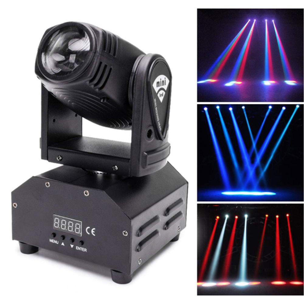 50W RGB LED Rotating Stage Light With 7 Control Models DJ Disco Club Party Dance Wedding Bar Theater Pub Magic Light Decorations