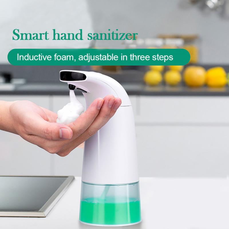 250ml Infrared Sensor Automatic Foam Soap Dispenser Touchless ABS Electroplated Sanitizer Soap Dispenser For Kitchen Bathroom