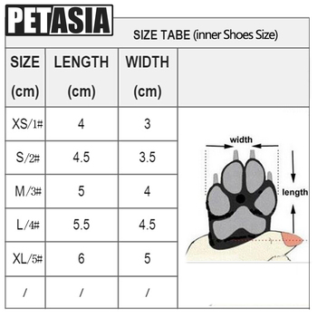 Winter Pet Dog Shoes Warm Snow Boots Waterproof Fur 4Pcs/Set Small Dogs Cotton Non Slip XS For ChiHuaHua Pug Pet Product PETASIA 5