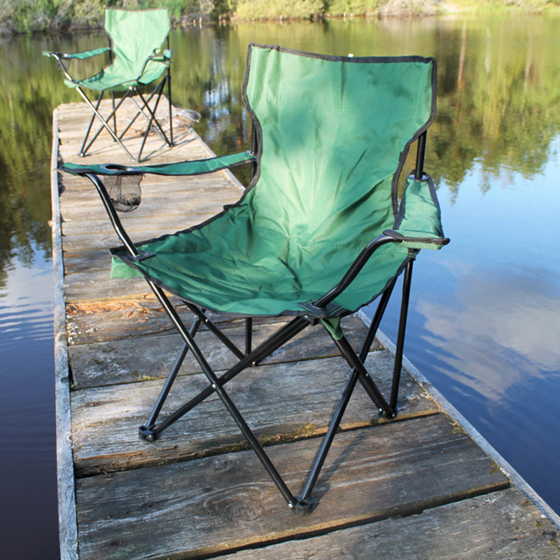 Large Armchair Pop Up Chair Fishing Stool Camping Beach Chairs Stainless Steel Outdoor Furniture With Storage Bag 83x12x12cm