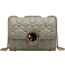 lady high grade small handbag female 2019 new luxury brand design crowd texture ocean chain messenger bag shoulder