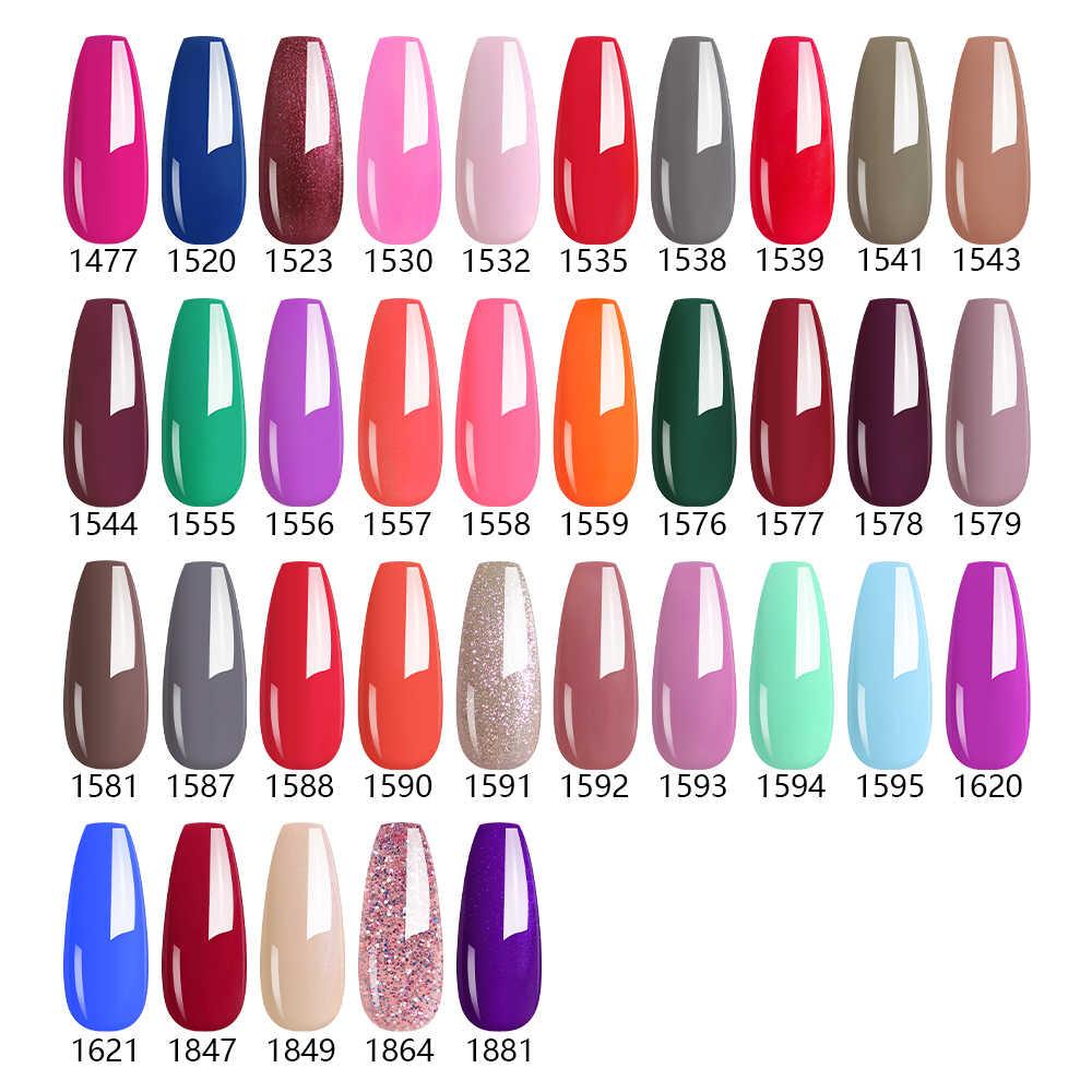 Clou Beaute jel lehçe tırnak jeli Lak sanat seti manikür UV Vernis yarı kalıcı Gellak 85 renk jel vernik tırnak lehçe 8ml