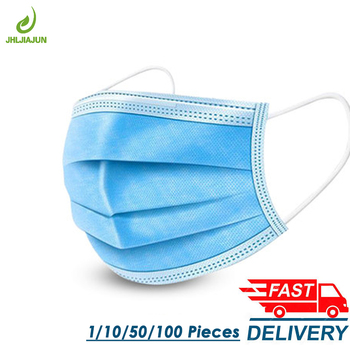 Disposable Protective Mask 3 Layer Nonwove Ply Filter Mouth Face Mask Anti-Dust Anti-Fog Meltblown Earloop Mouth Mask