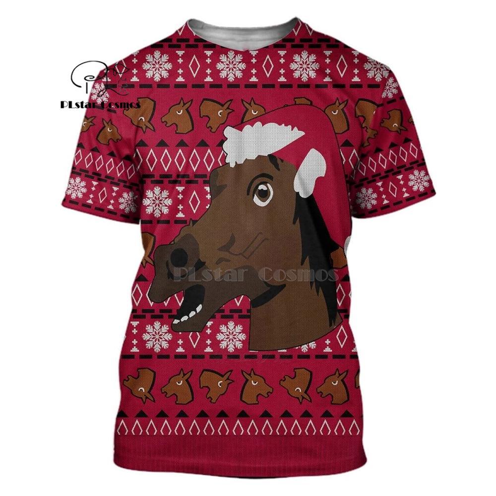 PLstar Cosmos Merry Christmas with horse 3d hoodies shirt Sweatshirt Winter autumn funny Harajuku Halloween cosplay streetwear in Hoodies amp Sweatshirts from Men 39 s Clothing