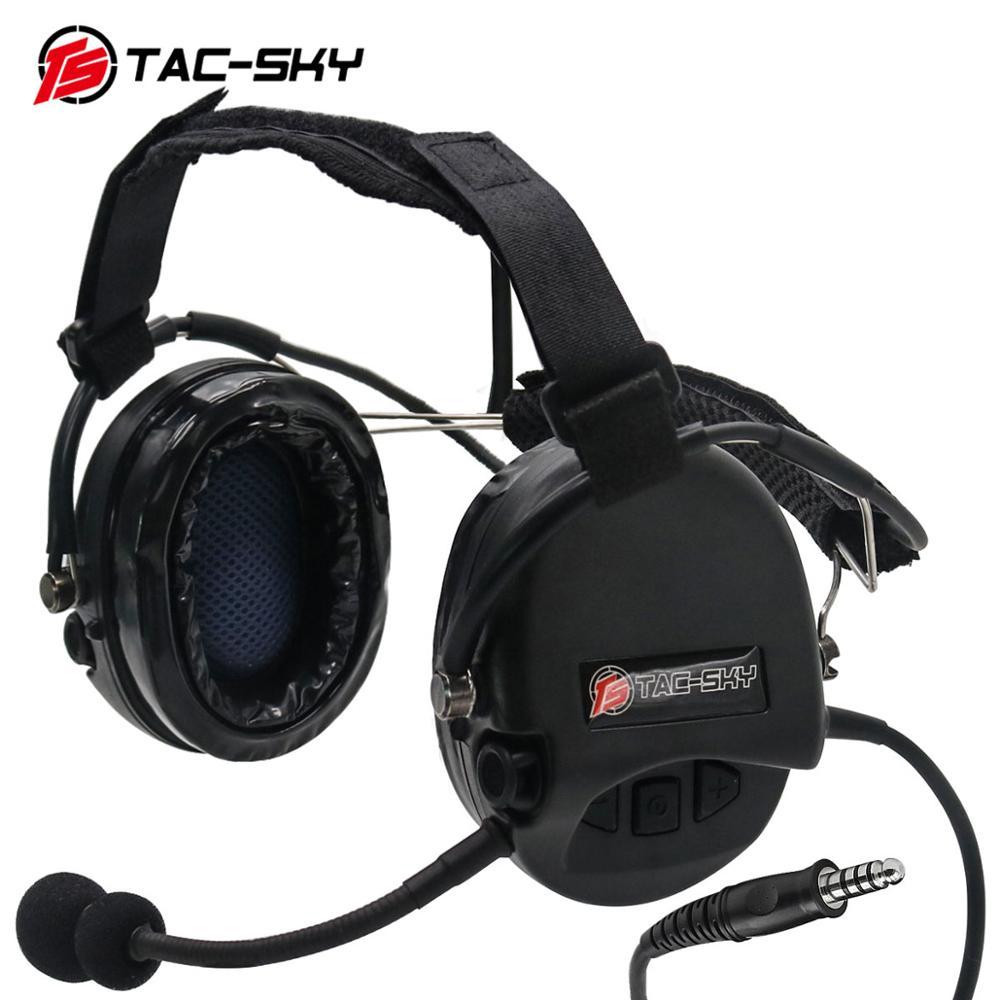 TAC-SKY TCI LIBERATOR II Softair Headphones SORDIN Silicone Earmuffs Noise Reduction Pickup Tactical Military Headphones BK