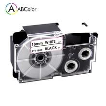 Label-Maker Cassette CASIO Cartridge Xr-18we-Labels Black 18mm for on White KL-130