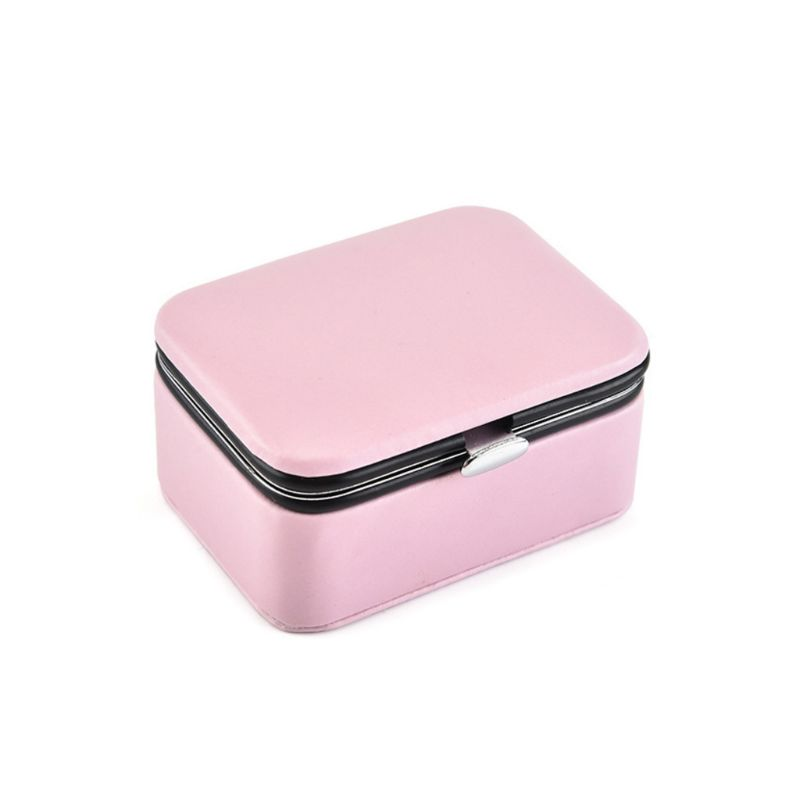 2020 New Small Travel Jewelry Display Box Portable Jewellery Case PU Leather Container