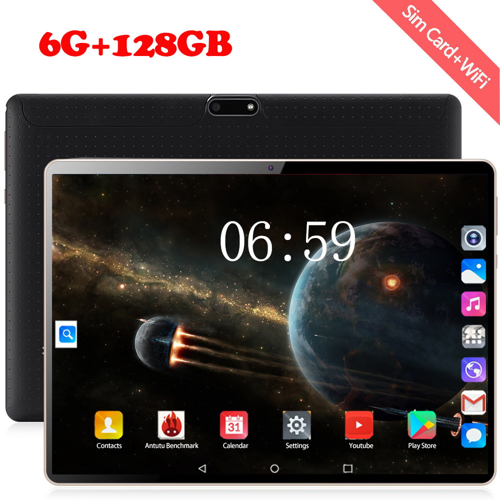 2020 New Design 10.1 Inch The Tablet Android 8.0 10 Core 6GB + 128GB ROM Dual Camera 8MP SIM Tablet PC Wifi GPS 4G Lte Phone
