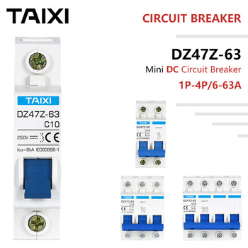 2P DC MCB  Circuit Breaker 10/20/25/63A 4P PV-system Overload Short Protector Battery Car Switch 250/500/750/1000V w2r 63a 2p 63a dual power supply transfer switch ats electrical selector switches