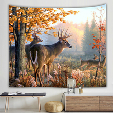 Lovely Deer Wall Hanging Tapestry Forest Pattern Printing Cloth Tapestries Modern Art Decor Sleeping Mat Shawl Blanket Yoga