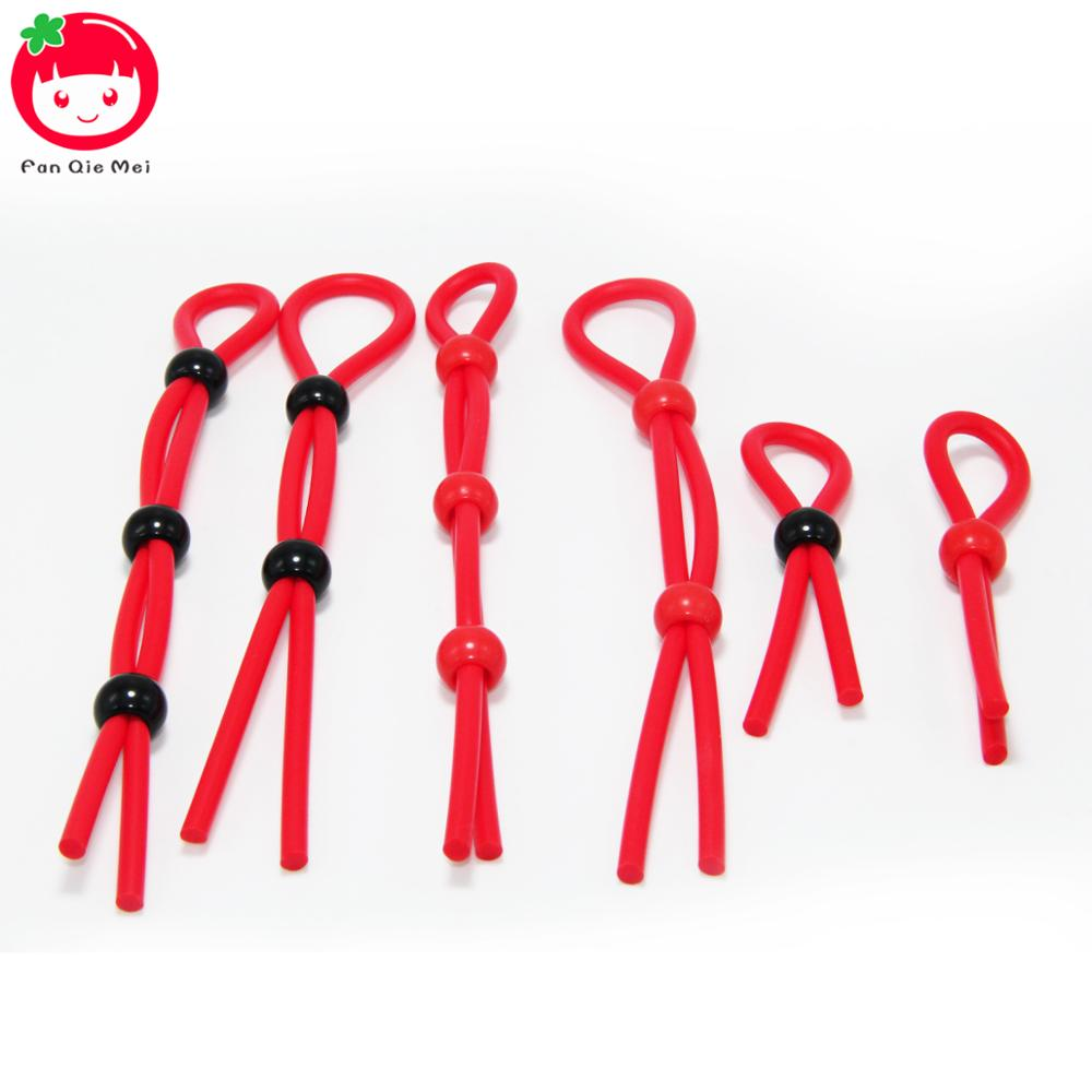 Fan Qie Mei Adjustable Penis <font><b>Ring</b></font> Rope <font><b>Sex</b></font> <font><b>Toys</b></font> for <font><b>Adult</b></font> Men Silicone Ejaculation Delay Cock Scrotum <font><b>Ring</b></font> Male Lasting Cockring image