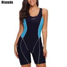 Riseado Sport Boyleg One Piece Swimsuit New 2020 Swimwear Women Patchwork Bathing Suits Racer Back Training Swimsuits Women
