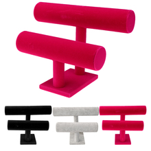 Multi-Tier Velvet Jewelry Display Stand Bracelet Chain Necklace Watch Display Stand/Holder/Shelf T-bar колье taya t b 4140 necklace multi