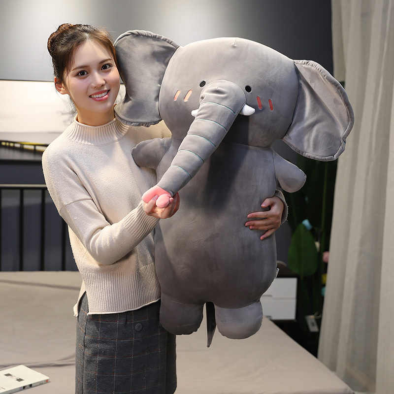 Huggable Новая мягкая милая плюшевая подушка динозавра, слона и единорога, мягкие плюшевые игрушки кавайных животных для детей, подарок, подушка для сна