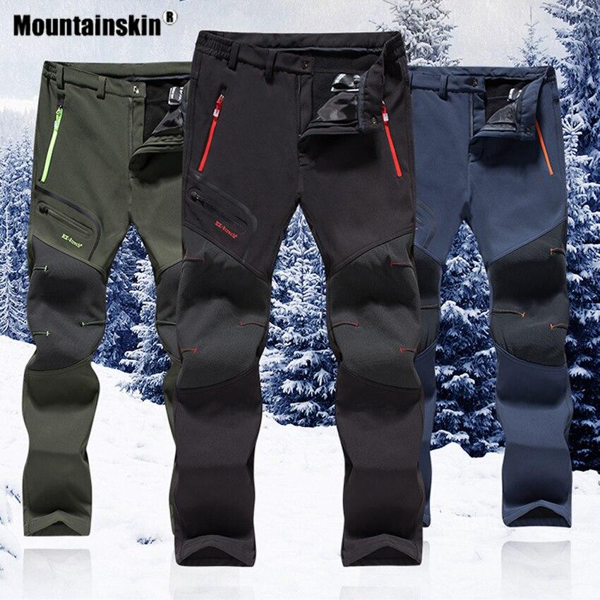 Mountainskin Мужские Зимние флисовые водонепроницаемые уличные Походные штаны софтшелл для походов, походов, скалолазания, Тренировочные Брюки 6XL VA640|Походные штаны|   | АлиЭкспресс