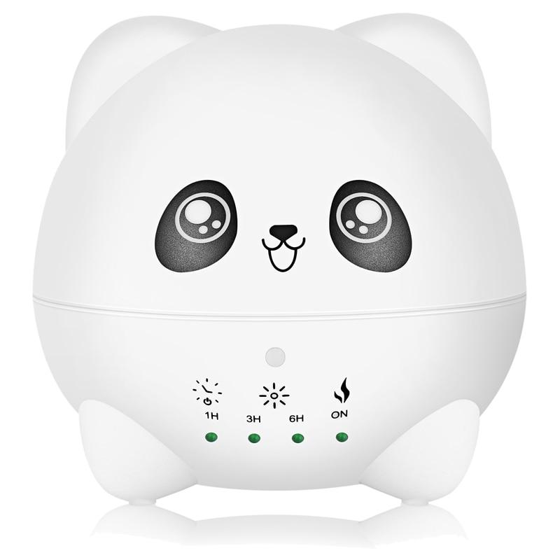 Ev Aletleri'ten Nemlendiriciler'de Karikatür Aroma nemlendirici LED gece işık ile hava taze Aroma YAYICI sevimli Panda 300Ml title=