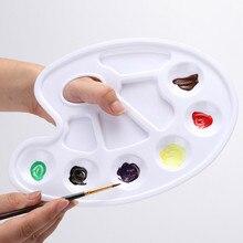 1 шт. пластиковая пигментная пластина с семи отверстиями акриловая смешивающая краска для рисования ногтей акварельный пластиковый поддон для краски