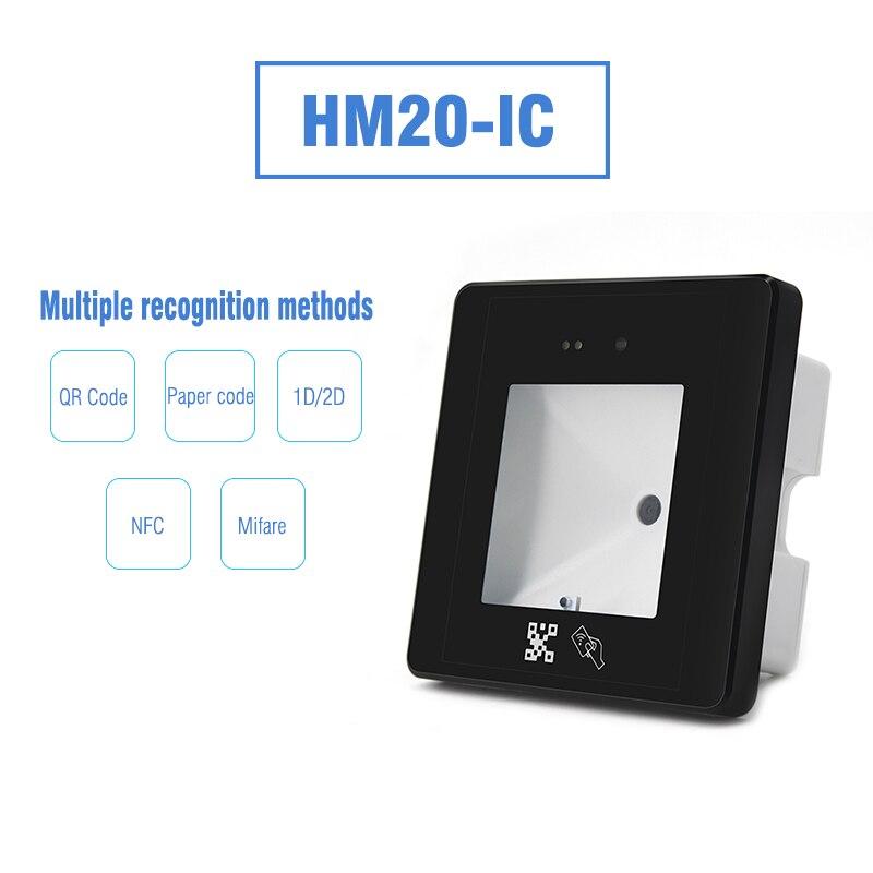 wiegand id cartao leitor qr codigo porta controle de acesso hm20 id 01