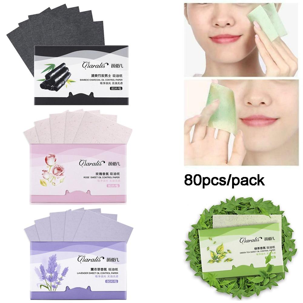 80 sztuk/paczka przenośne Shrink Pore matujący Tissue narzędzia do makijażu twarzy czyszczenie kontrola oleju chłonne papieru Blotting arkuszy 2