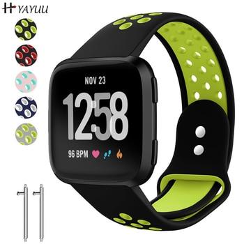 YAYUU Air Hole Watch Strap Band For Fitbit Versa/Versa 2/Versa Lite Soft Silicone Replacement Band for Versa/Versa 2 Wristband фото