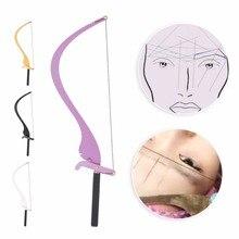 Nueva regla marcador de línea de Microblading con 10 Uds. Líneas de hilo, Regla de medición de diseño para cejas, Set de suministros de maquillaje permanente