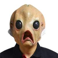 1Pcs Alien Latex Creepy Mask Breathable Full Face Head Mask Halloween Masquerade Scary Mask Fancy Dress Party Cosplay
