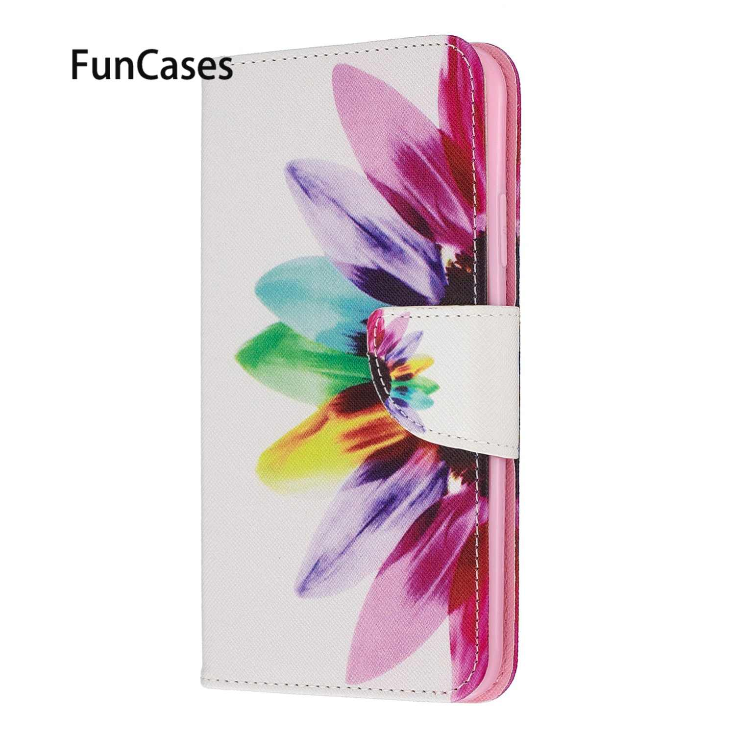 Exotic Cell Cases For phone case Huawei Y7 Prime 2019 Flip Book Case sFor Positivo Huawei Y7 2019 Enjoy 9 Honor 8S 8A Y6 Pro Y5