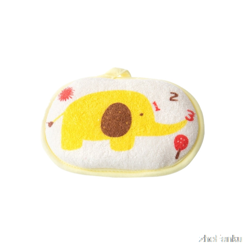High Quality Eco-friendly Super Soft Infant Bath Sponge Baby Bath Brush Lovely Elephant Sponge For The Bath Eponge
