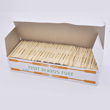 1000PCs Disposable Wood Fork 9cm Eco-friendly Bamboo Forks for Fruit Buffet Restaurant Bar Cafe Market Parties Barbecue BBQ