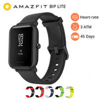 Amazfit Bip Lite inteligentny zegarek angielska wersja Huami Amazfit Bip LITE zegarek męski 45 dni żywotność baterii 3ATM wodoodporny zegarek