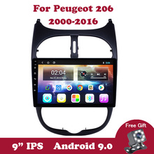 Android 9.0 Car Radio For Peugeot 206 2000-2013 2014 2015 2016 Multimedia Video Player Navigation GPS 2din DVD Bluetooth Carplay ectwodvd wince 6 0 car multimedia player for kia sorento 2013 2014 2015 2016 car dvd auto video player gps navigation radio
