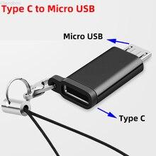 Тип C Женский к Micro USB Мужской кабель для телефона Android USB Кабель-адаптер зарядного устройства Sycn Otg конвертер для Samsung Xiaomi 9 Mi6 Mi5