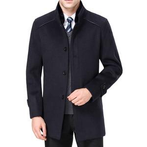 Image 2 - معطف رجالي طويل من الصوف ماركة Mu Yuan Yang معطف 50% من الصوف للرجال ملابس شتوية غير رسمية من الكشمير الدافئ مقاس كبير 5XL 6XL