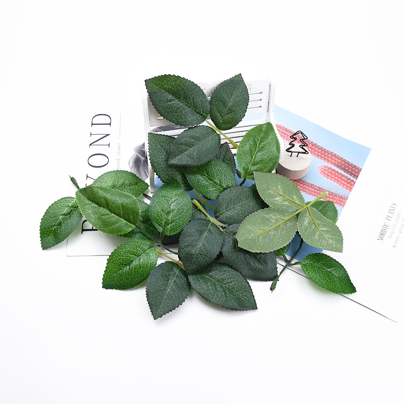 20 Pieces Silk Green Leaves Wedding Bridal Accessories Clearance Artificial Plants Christmas Decorative Flowers Wreaths Home Decor Scrapbooking Leaf Diy Gifts Box Flores A Cap Autumn Decoration Needlework Crafts