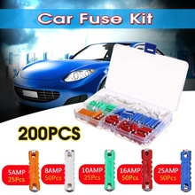 200Pcs Mini 5A 8A 10A 16A 25A Environmentally Friendly Car A