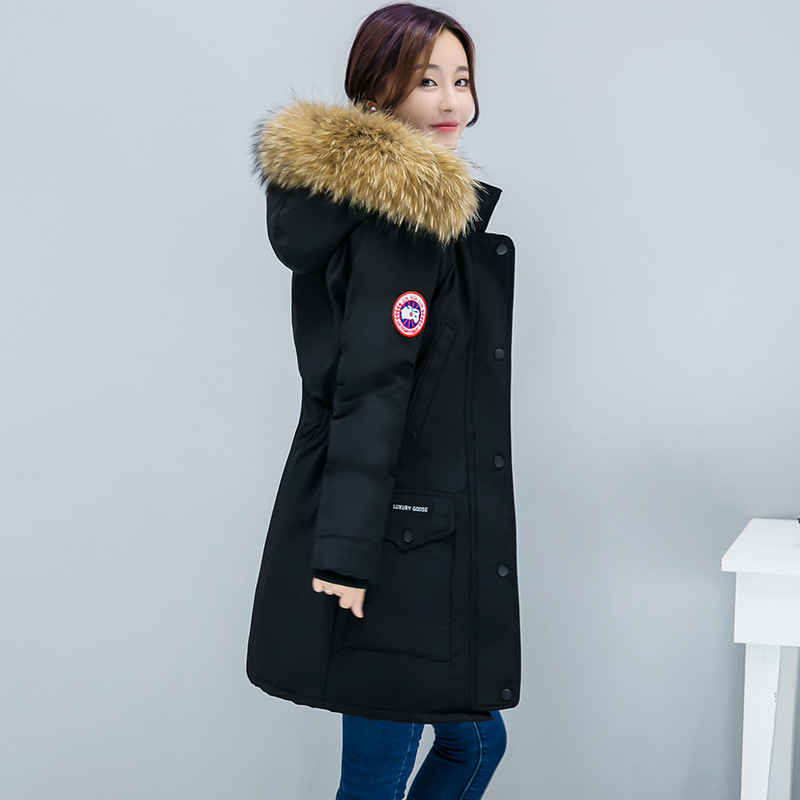 2019 Winter Fashion New Style Cotton Coat Women's Mid-length Large Size Thick Korean-style Hooded Large Fur Collar WOMEN'S Cotto