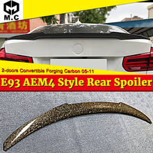 For BMW E93 M3 2-door coupe convertible hick Forging Carbon fiber Trunk spoiler wing M4 style 3 series M look 06-13