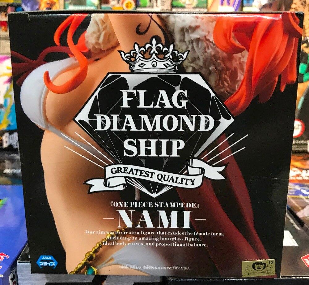 One Piece Stampede Flag Diamond Ship Nami PVC Figure Banpresto 100/% authentic