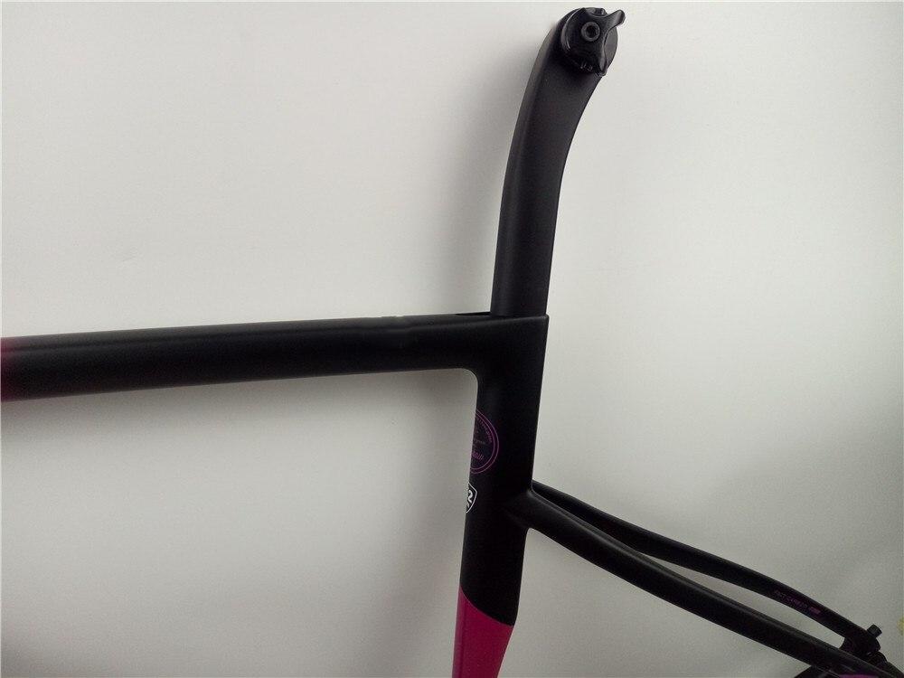 Hot Sell OEM 1: 1 Disc Brake  Carbon Road Bike Frame Red And Black Road Bicycle Frame PF30-30 Bottom Bracket Support DPD UPS