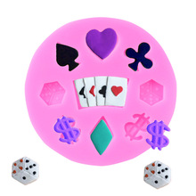 High-quality heat-resistant organic silicone playing card cake baking mold trend deck poker classic magic trick chocolate