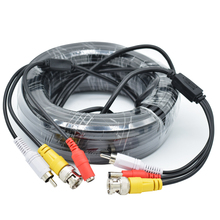 5-40M BNC+RCA+DC connector 3 in 1 BNC CCTV Cable coaxial Video Audio Power AHD Cameras Cable for DVR Surveillance System